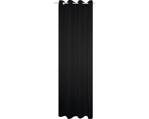 Ösenschal Thermo-Verdunkelung schwarz 135x245 cm