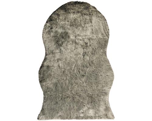 Kunstschaffell Shape schwarz 140x200 cm