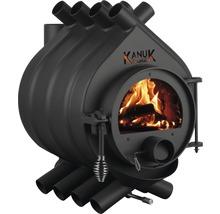 Warmluftofen Kanuk Original 1 Stahl schwarz 7 kW