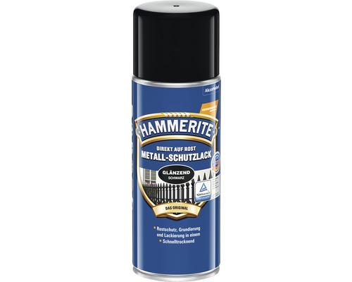 HAMMERITE Metall-Schutzlack glänzend Schwarz 400 ml
