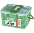 Spax Universalschraube Senkkopf Stahl gehärtet T 20, Holz-Teilgewinde 4x50 mm, 400 Stück in Henkelbox