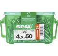 Spax Universalschraube Senkkopf Stahl gehärtet T 20, Holz-Teilgewinde 4,5x50 mm, 350 Stück