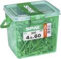 Spax Universalschraube Senkkopf Stahl gehärtet T 20, Holz-Teilgewinde 4,5x60 mm, 300 Stück