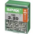 Spax Universalschraube Senkkopf Stahl gehärtet T 10, Holz-Vollgewinde 3x20 mm, 100 Stück