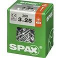 Spax Universalschraube Senkkopf Stahl gehärtet T 10, Holz-Vollgewinde 3x25 mm, 300 Stück