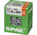 Spax Universalschraube Senkkopf Stahl gehärtet T 15, Holz-Teilgewinde 3,5x30 mm, 200 Stück