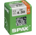 Spax Universalschraube Senkkopf Stahl gehärtet T 20, Holz-Teilgewinde 4x30 mm, 150 Stück