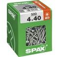 Spax Universalschraube Senkkopf Stahl gehärtet T 20, Holz-Teilgewinde 4x40 mm, 500 Stück