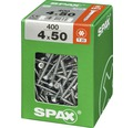 Spax Universalschraube Senkkopf Stahl gehärtet T 20, Holz-Teilgewinde 4x50 mm, 400 Stück