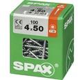 Spax Universalschraube Senkkopf Stahl gehärtet T 20, Holz-Teilgewinde 4x50 mm, 100 Stück