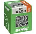 Spax Universalschraube Senkkopf Stahl gehärtet T 20, Holz-Teilgewinde 4,5x50 mm, 300 Stück