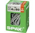 Spax Universalschraube Senkkopf Stahl gehärtet T 20, Holz-Teilgewinde 4,5x60 mm, 50 Stück