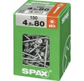 Spax Universalschraube Senkkopf Stahl gehärtet T 20, Holz-Teilgewinde 4,5x80 mm, 150 Stück