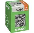Spax Universalschraube Senkkopf Stahl gehärtet T 20, Holz-Teilgewinde 5x60 mm, 250 Stück