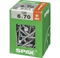 Spax Universalschraube Senkkopf Stahl gehärtet T 30, Holz-Teilgewinde 6x70 mm, 125 Stück