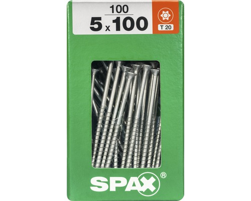 Spax Universalschraube Senkkopf Stahl gehärtet T 20, Holz-Teilgewinde 5x100 mm, 100 Stück