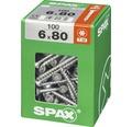 Spax Universalschraube Senkkopf Stahl gehärtet T 30, Holz-Teilgewinde 6x80 mm, 100 Stück