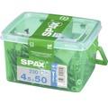 Spax Universalschraube, Edelstahl A2, Senkkopf T 20, Holz-Teilgewinde, 4,5x50 mm, 230 Stück