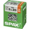 Spax Universalschraube Senkkopf Stahl gehärtet T 15, Holz-Vollgewinde 3,5x20 mm, 300 Stück