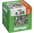 Spax Universalschraube Senkkopf Stahl gehärtet T 20, Holz-Vollgewinde 4x25 mm, 600 Stück
