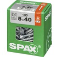 Spax Universalschraube Senkkopf Stahl gehärtet T 20, Holz-Teilgewinde 5x40 mm, 100 Stück