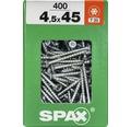 Spax Universalschraube Senkkopf Stahl gehärtet T 20, Holz-Teilgewinde 4,5x45 mm, 400 Stück