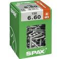 Spax Universalschraube Senkkopf Stahl gehärtet T 30, Holz-Teilgewinde 6x60 mm, 150 Stück