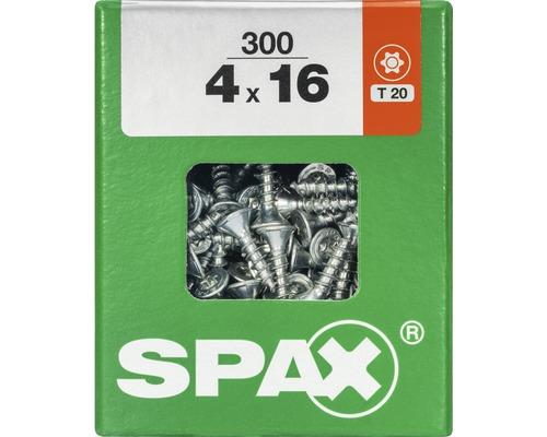 Spax Universalschraube Senkkopf Stahl gehärtet T 20, Holz-Vollgewinde 4x16 mm, 300 Stück
