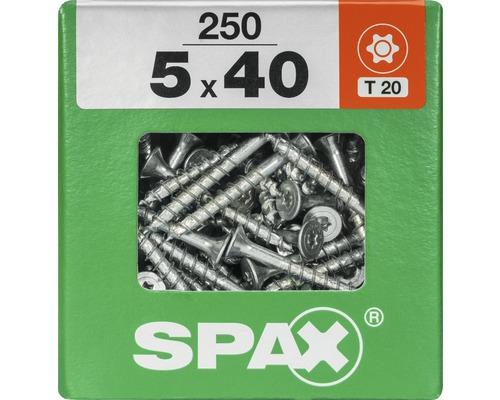 Spax Universalschraube Senkkopf Stahl gehärtet T 20, Holz-Teilgewinde 5x40 mm, 250 Stück