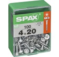 Spax Universalschraube Senkkopf Stahl gehärtet T 20, Holz-Vollgewinde 4x20 mm, 100 Stück