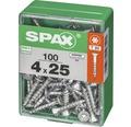 Spax Universalschraube Senkkopf Stahl gehärtet T 20, Holz-Vollgewinde 4x25 mm, 100 Stück