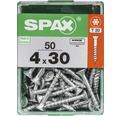Spax Universalschraube Senkkopf Stahl gehärtet T 20, Holz-Teilgewinde 4x30 mm, 50 Stück