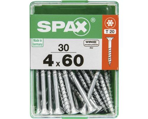 Spax Universalschraube Senkkopf Stahl gehärtet T 20, Holz-Teilgewinde 4x60 mm, 30 Stück