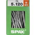 Spax Universalschraube Senkkopf Stahl gehärtet T 20, Holz-Teilgewinde 5x120 mm, 75 Stück