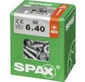 Spax Universalschraube Senkkopf Stahl gehärtet T 30, Holz-Teilgewinde 6x40 mm, 50 Stück