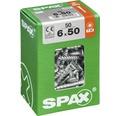 Spax Universalschraube Senkkopf Stahl gehärtet T 30, Holz-Teilgewinde 6x50 mm, 50 Stück