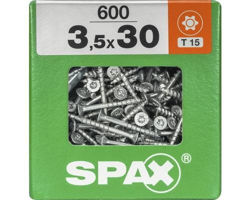 Spax Universalschraube Senkkopf Stahl gehärtet T15, Holz-Teilgewinde 3,5x30 mm 600 Stück