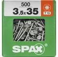 Spax Universalschraube Senkkopf Stahl gehärtet T15, Holz-Teilgewinde 3,5x35 mm 500 Stück