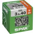 Spax Universalschraube Senkkopf Stahl gehärtet T15, Holz-Teilgewinde 3,5x40 mm 500 Stück
