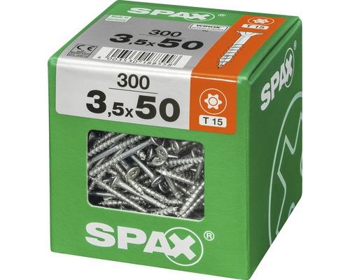 Spax Universalschraube Senkkopf Stahl gehärtet T15, Holz-Teilgewinde 3,5x50 mm 300 Stück