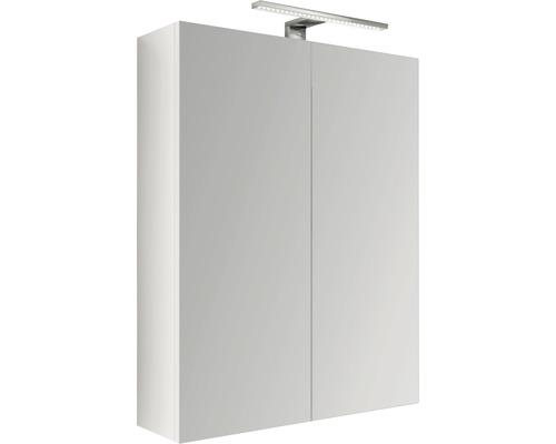 LED-Spiegelschrank Baden Haus 60x60x17 cm 2-türig wieß