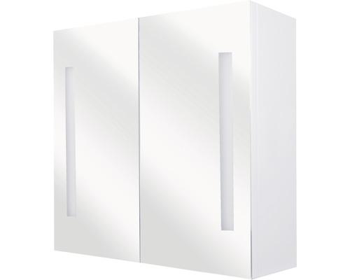 LED-Spiegelschrank Sotto 67,5x15x50 cm 2-türig weiß