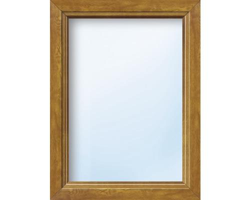 Kunststofffenster Festelement ARON Basic weiß/golden oak 400x950 mm (nicht öffenbar)