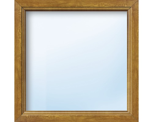 Kunststofffenster Festelement ARON Basic weiß/golden oak 1000x1050 mm (nicht öffenbar)