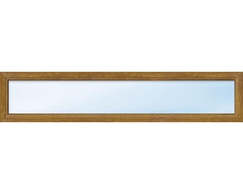Kunststofffenster Festelement ARON Basic weiß/golden oak 1900x600 mm (nicht öffenbar)