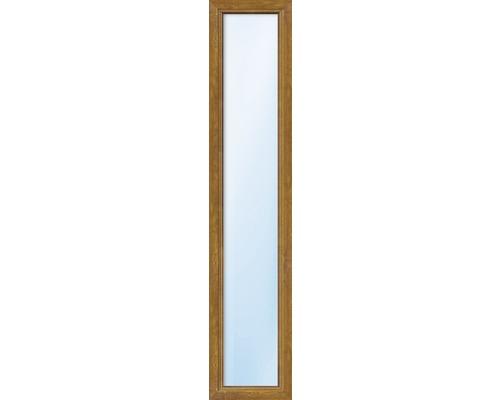 Kunststofffenster Festelement ARON Basic weiß/golden oak 550x1200 mm (nicht öffenbar)