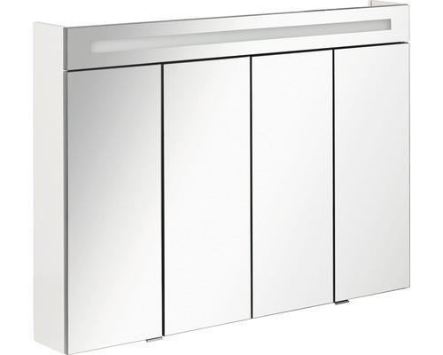 Spiegelschrank Fackelmann Stanford 110x78,5x16,5 cm 4-türig weiß