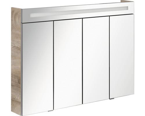 Spiegelschrank Fackelmann Stanford 110x78,5x16,5 cm 4-türig eiche