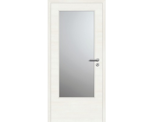 Innentüre CPLPlus stumpf Bianco GL inkl. Lichtausschnitt (ohne Glas) 97,2x201,6 cm links