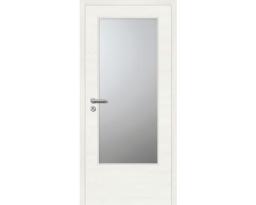 Innentüre CPLPlus stumpf Bianco GL inkl. Lichtausschnitt (ohne Glas) 87,2x201,6 cm rechts